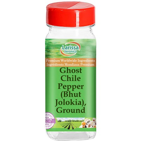 Ghost Chile Pepper (Bhut Jolokia), Ground (4 oz, ZIN: 526768) - 2-Pack