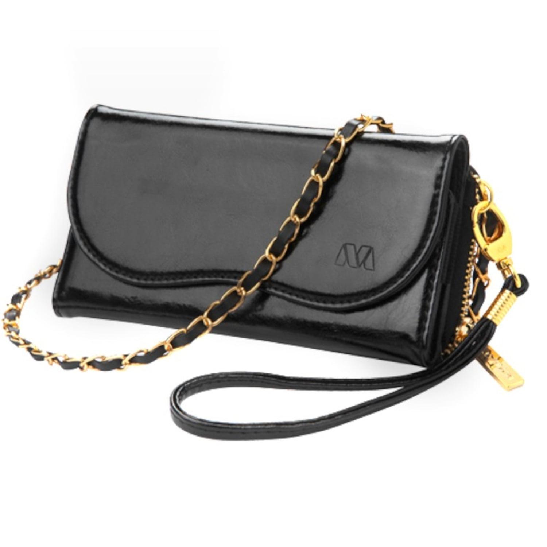 Insten Black Genuine Leather Wallet Case Bag Pouch Elegan...