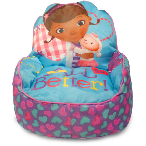 Disney Doc McStuffins Toddler Bean Bag Sofa Chair, Multi-Color