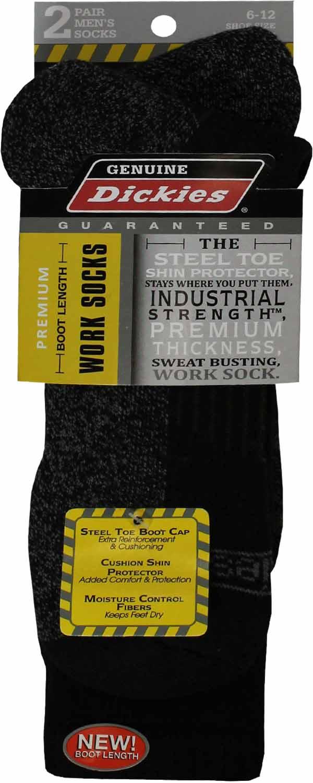 Boot Length Crew Socks, 2-Pack