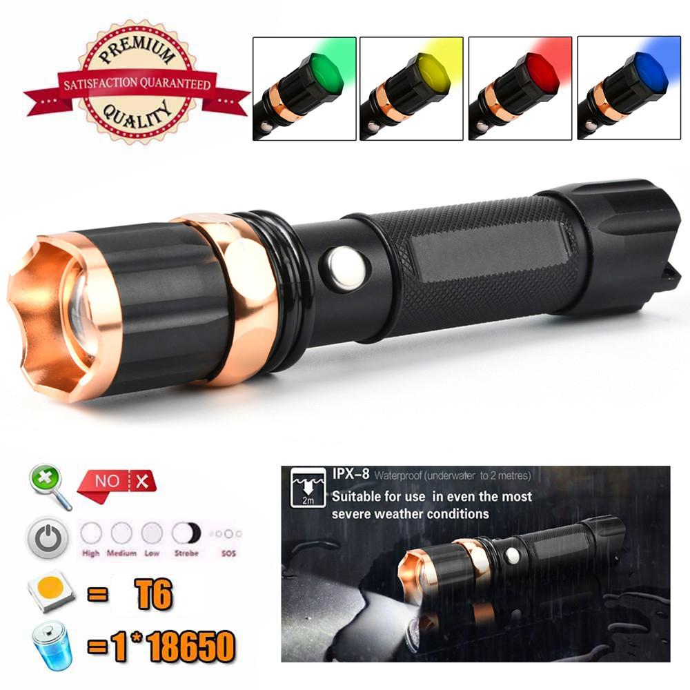 DZT1968 Tactical Police 1000Lumen XM-L T6 LED 3Modes Flashlight Aluminum Torch