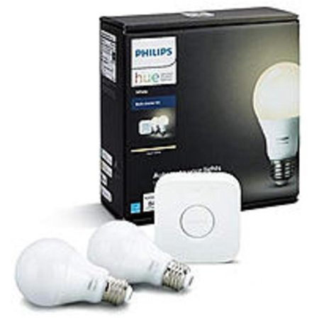 Philips Hue A19 LED Dimmable Smart Wireless Lighting Starter Kit