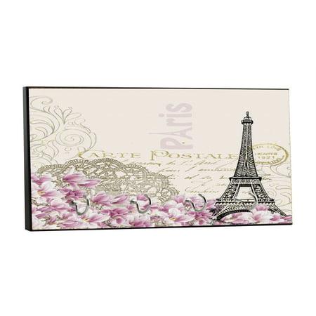 Parisian Themed Decor (Vintage Style Elegant Parisian Themed Eiffel Tower and Flowers Paris, France French Design - 5