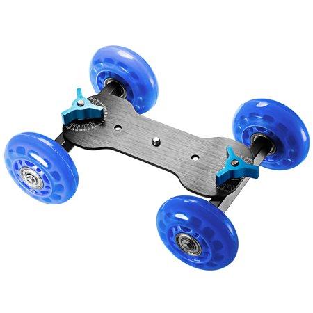 Neewer Professional Tabletop Mobile Rolling Slider Dolly Car Skater Video Track Rail for Digital SLR Cameras & Video Camcorders/LED Lights / flash light