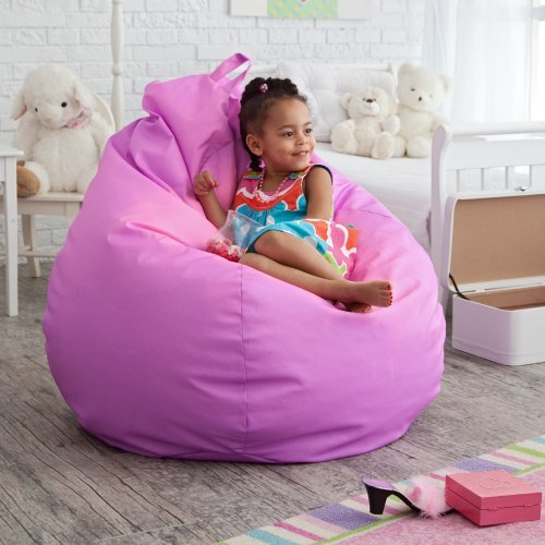Gold Medal Fashion Large Color Changing Vinyl Teardrop Bean Bag Chair