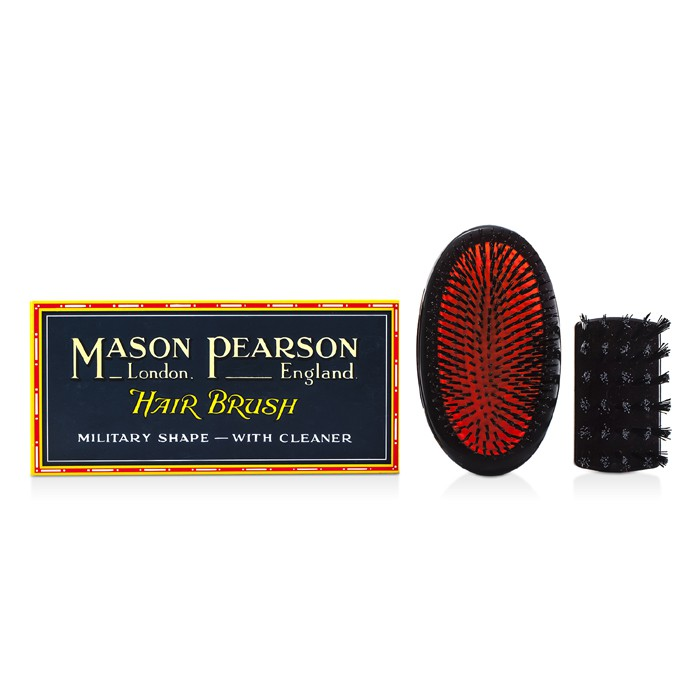 Mason Pearson - Boar Bristle - Small Extra Military Pure Bristle Medium Size Hair Brush (Dark Ruby) -1pc