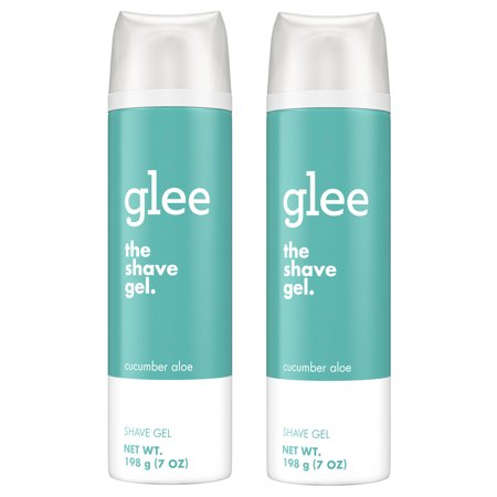 (2 pack) glee Cucumber Aloe Shave Gel, 7oz