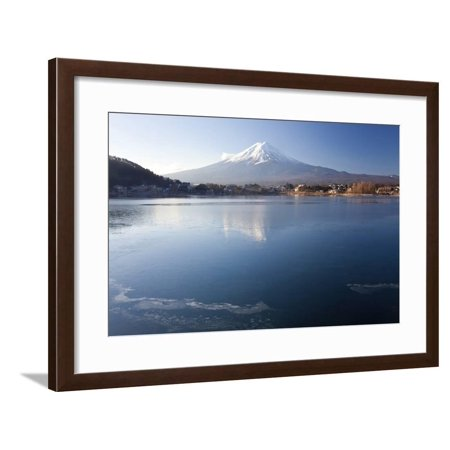 Lake Kawaguchi, Mount Fuji, Japan Framed Print Wall Art By Peter Adams