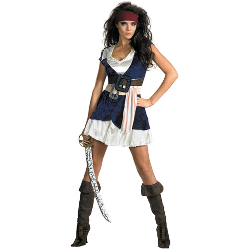 Pirates of the Caribbean Jack Sparrow Sassy Adult Halloween Costume