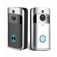 VIDEO DOOR BELL - SMART WIRELESS VIDEO DOORBELL HD 720P HOME SECURITY WIFI CAMERA WIDE ANGLE TWO-WAY TALK PHONE APP (BLACK)