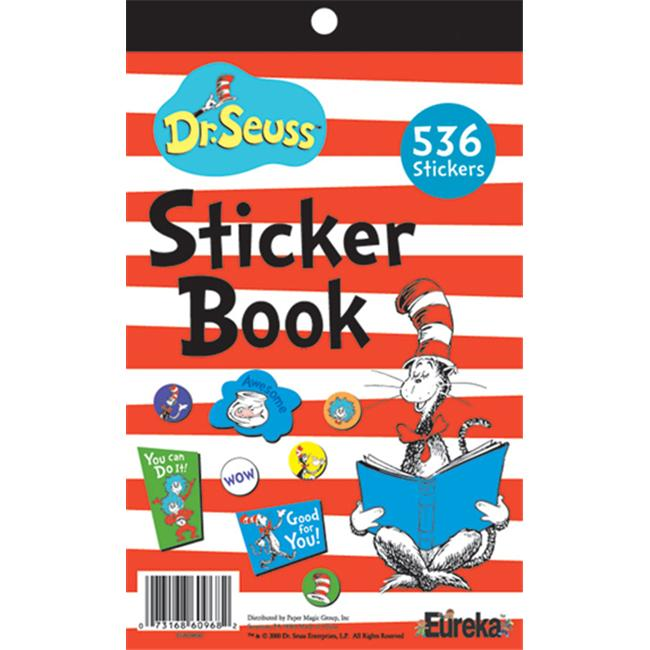 Eureka EU-609690 Cat In The Hat Sticker Book