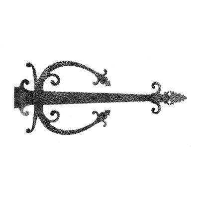 Acorn Manufacturing Warwick Iron Dummy Hinge Strap Ornate...
