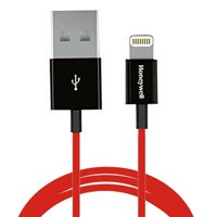 Honeywell MFI 3' Lightning to USB Charge & Sync Cable (Red)