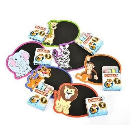 ~ 12 ~ Zoo Safari Mini Chalkboard Magnet Sets ~ New ~ Lion, Tiger, Elephant, Giraffe, Zebra, Monkey](Giraffe Boards)