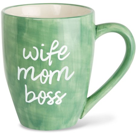 Pavilion - Wife Mom Boss Green Large 20 oz Ceramic Coffee Mug Tea Cup