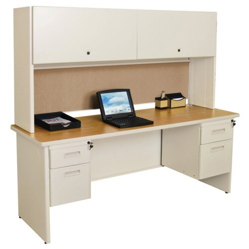 Marvel Pronto 72 in. Double File Desk with Flipper Door Cabinet