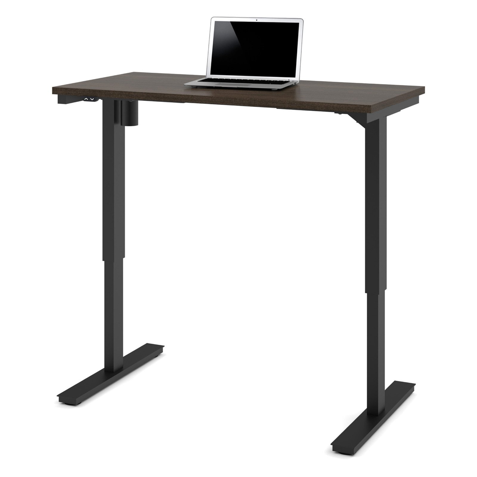 "Bestar 24"" x 48"" Electric Height adjustable table in Dark Chocolate by Bestar"