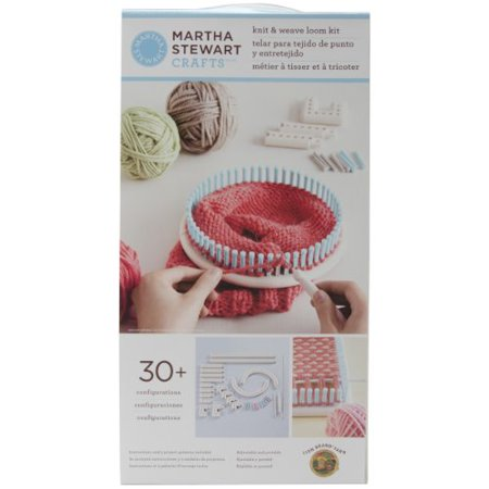 Martha Stewart Crafts Lion Brand Yarn 5000 100 Knit And Weave Loom Kit Multi Colored