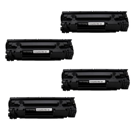 Office Mountain 4 Pack Remanufactured Black Toner Cartridge Canon