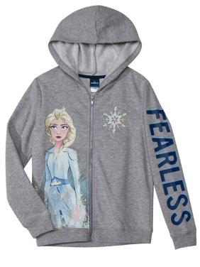 Disney Frozen 2 All Girls Long Sleeve Zip Hoodie