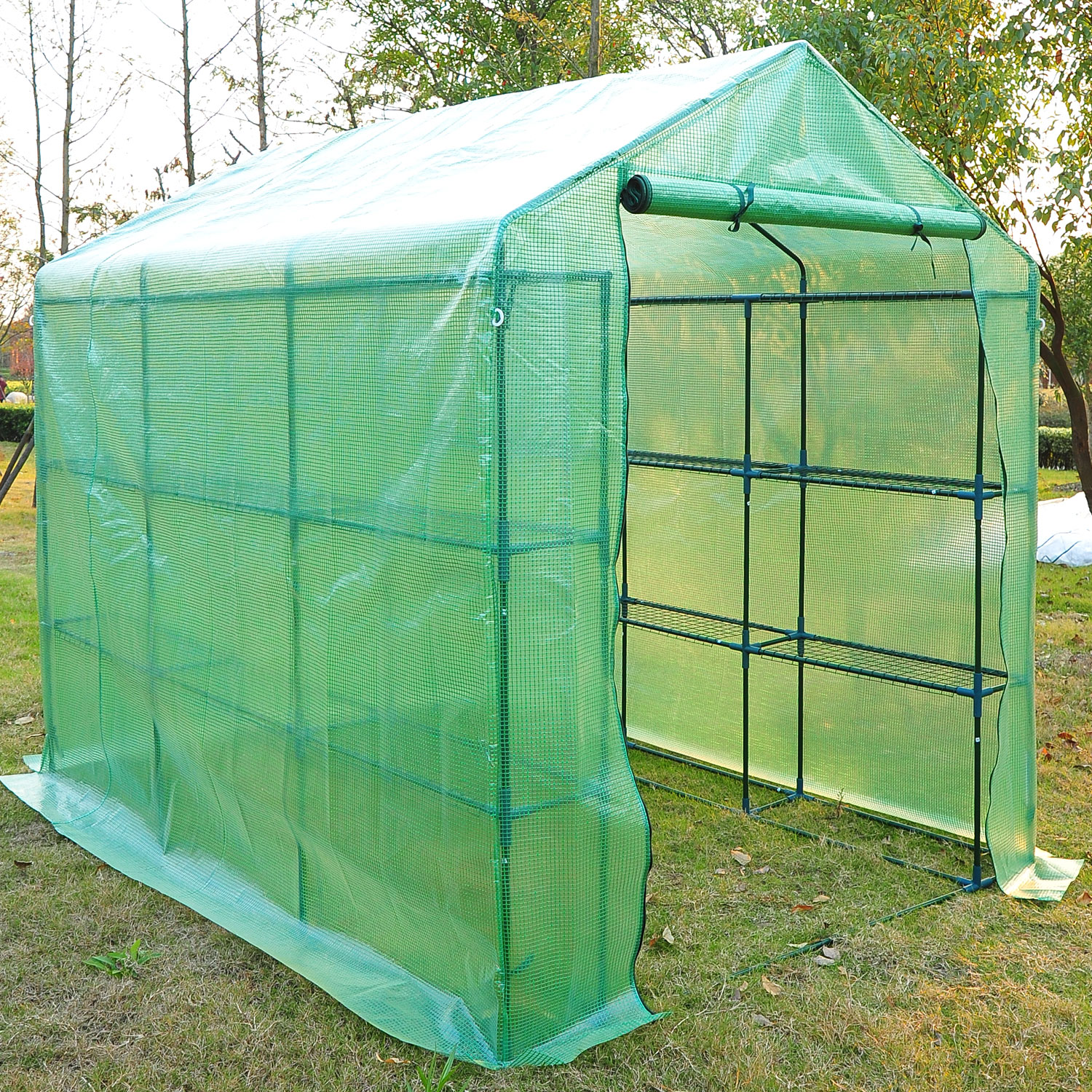 8u0027 X 6u0027 X 7u0027 Outdoor Portable Large Greenhouse / Hot House   Walmart.com