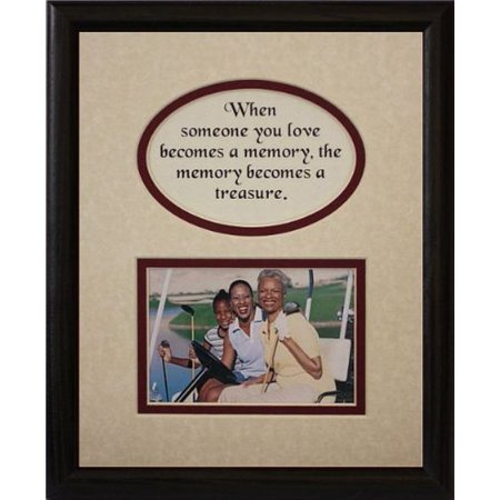 8X10 Memory Is A Treasure Picture & Poetry Photo Gift Frame ~ Cream/Burgundy Mat With Black Frame * Memorial * Bereavement * Sympathy * Condolence Picture And Poetry Keepsake Gift Frame
