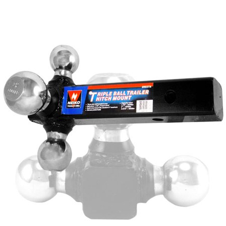 Neiko Triple Ball Hitch Mount Trailer Three 3 Tri Towing