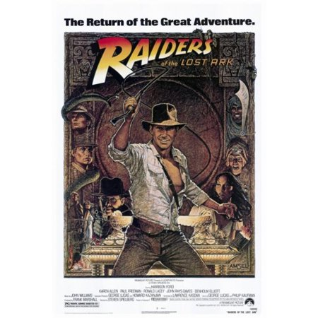 Pop Culture Graphics MOVEF8318 Raiders of The Lost Ark Movie Poster Print, 27 x 40
