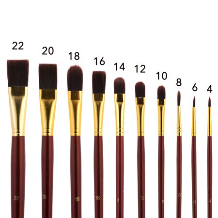Round Acrylic Paint Brushes