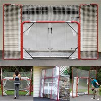 EZ Goal Portable Folding Regulation Size Hockey Training Goal Net with Backstop