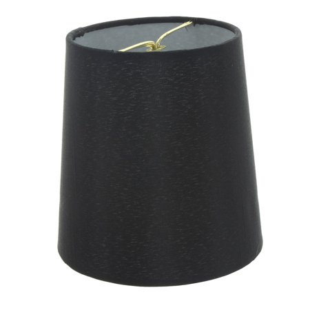 (5 Inch European Drum Style Chandelier Lamp Shade Mini Shade Black Silk)