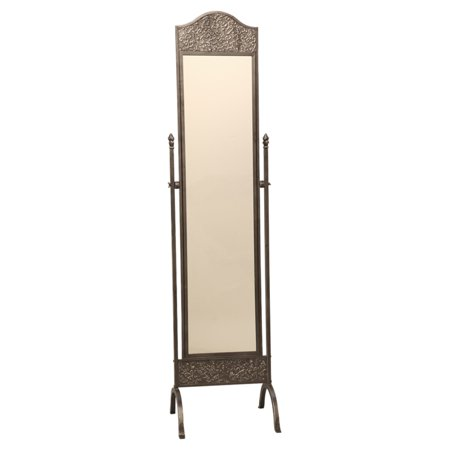 - Passport Accent Furniture Gunmetal Silver Cheval Mirror - 18W x 74H in.