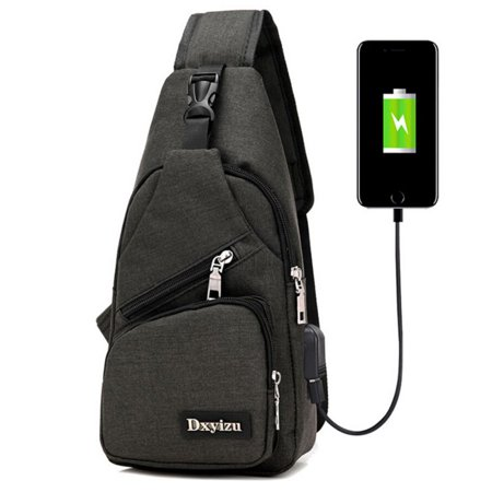 Cross Shoulder Backpack - Sling Bag Travel Backpack Wear Over Shoulder or Crossbody for Women & Men,Black
