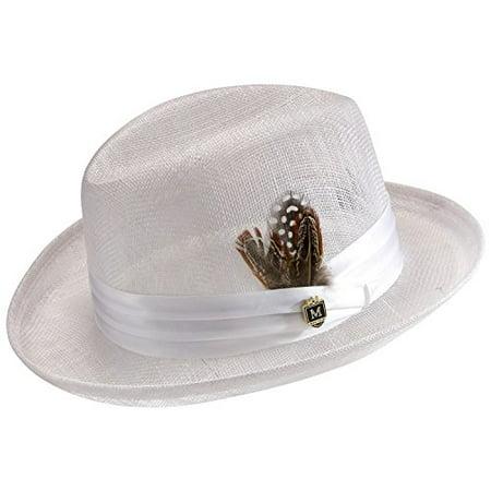 Montique Men's Godfather Sinamay Straw Hat H21