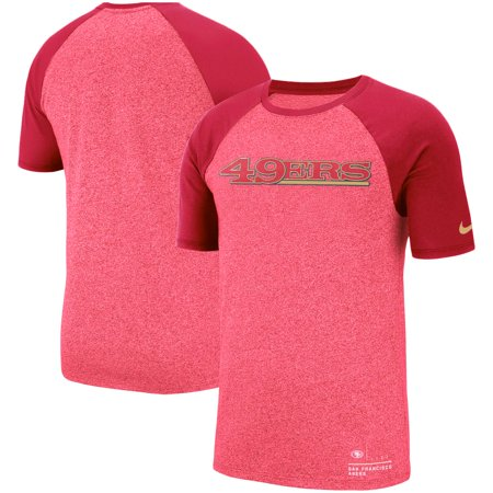 San Francisco 49ers Nike Fan Gear Marled Raglan Performance T-Shirt -  Heathered Scarlet db4a39d4c