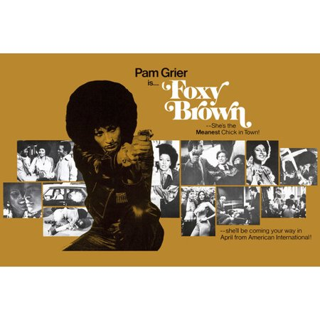 Cool Movie Poster (Pam Grier and Peter Brown in Foxy Brown Cool Montage movie scenes 24x36 Poster )