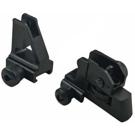 Green Blob Outdoors Iron Sights Match Grade Model 4/15 Rear & High Profile Front Sight Gas Block, DPMS (Best Ar 15 Low Profile Gas Block)