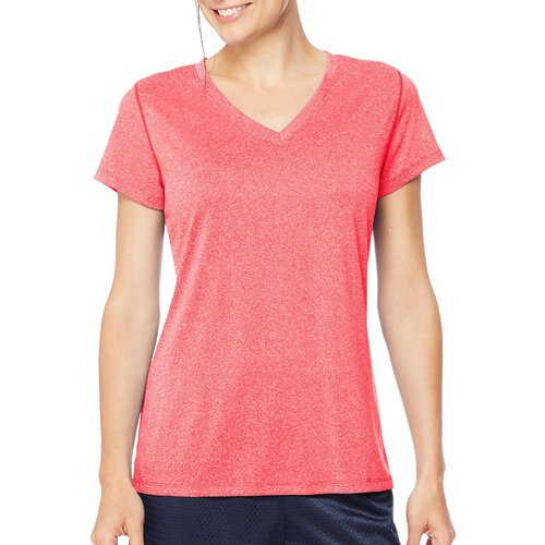 Hanes Sport Women's Heathered Performance V-Neck Tee by