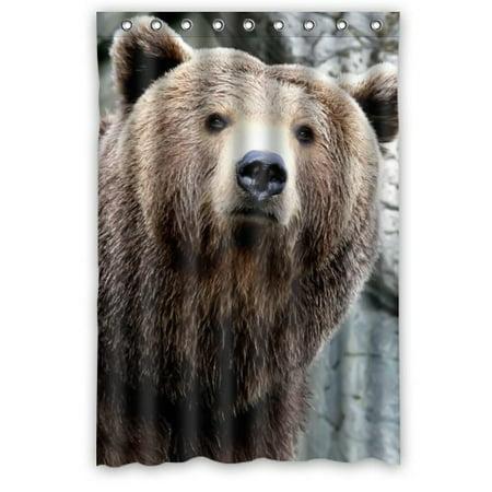 Greendecor Grizzly Bear Wild Animal Bear Waterproof Shower