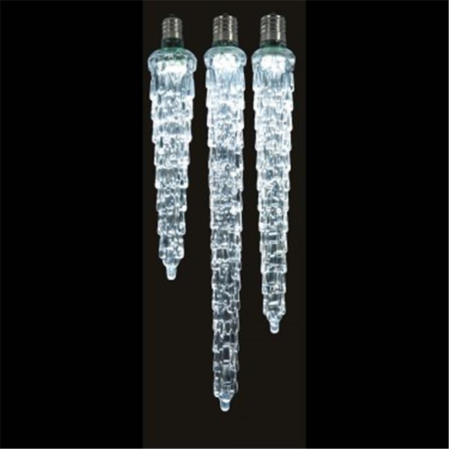 Vickerman XICE735 9 in. LED Cool Wht Icicle Bulb E12 .96W - image 1 of 1