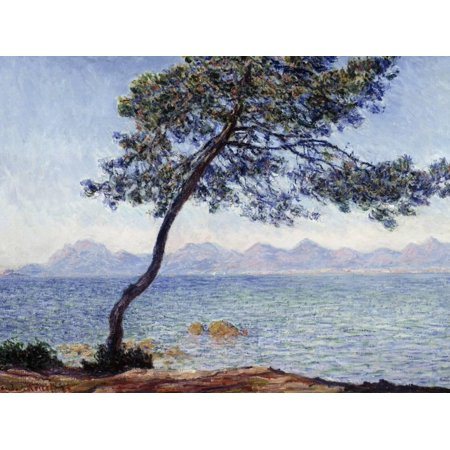 Antibes by Claude Monet, 1888 Impressionist Coast Ocean Painting Print Wall Art