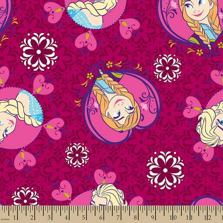 Disney Frozen Sisters Framed Toss, Minky Fleece, Pink, 59/60