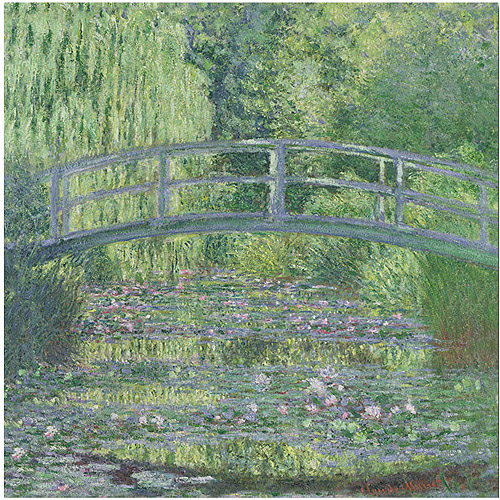 "Trademark Art ""The Water-Lily Pond"" Canvas Art by Claude Monet"