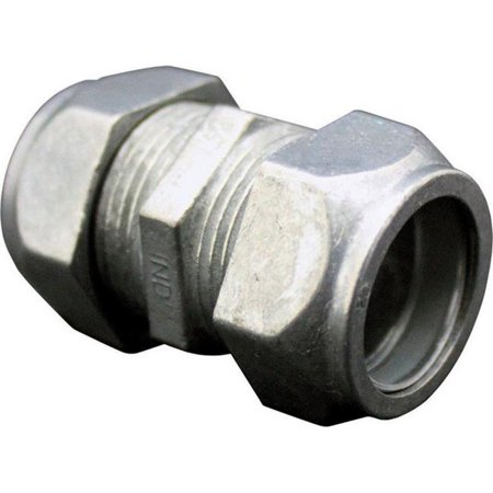 Sigma Electric ProConnex  1/2 in. Dia. Zinc-Plated Steel  Compression Coupling  For EMT 1 pk