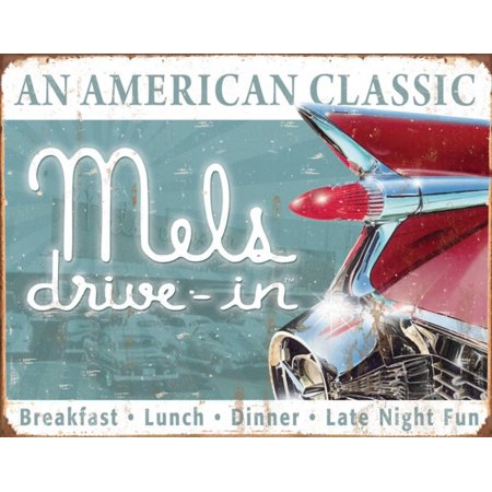 Fields Classic Tin - Mels Diner Classic Tin Sign - 16x12
