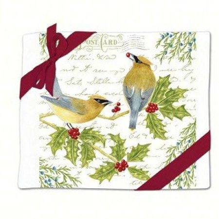 Image of Alice's Cottage AC34328 Cedar Waxwing Flour Sack Towel