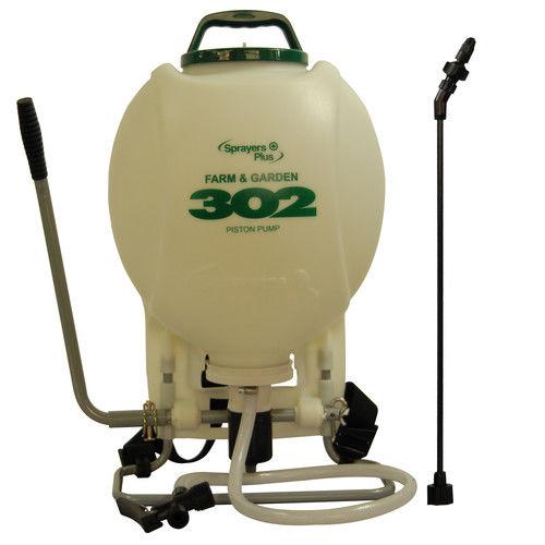Sprayers Plus 302 4 Gallon Pro Farm & Garden Backpack Sprayer w  External Piston Pump by