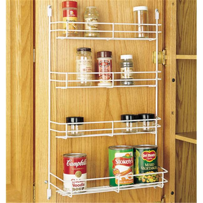 Rev-A-Shelf RS565.8.52 Rev-A-Shelf Door Mount Wire Spice Rack white 7.88 wide