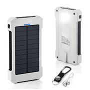 Waterproof 500000mAh 2 USB Portable Solar Battery Charger Solar Power Bank