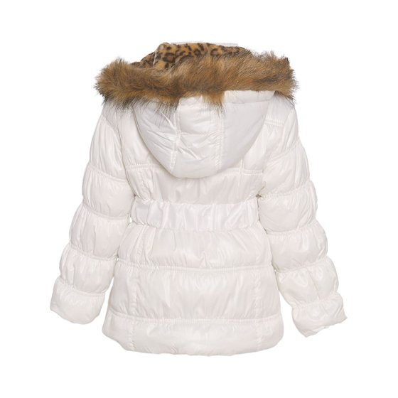 986666819356 Urban Republic - Urban Republic Little Girls White Fur Trim Belted ...